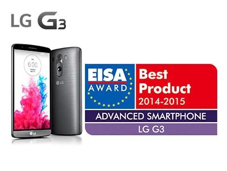 lg g3 uno de los mejores moviles del 2014 - premio eisa 2014 2015