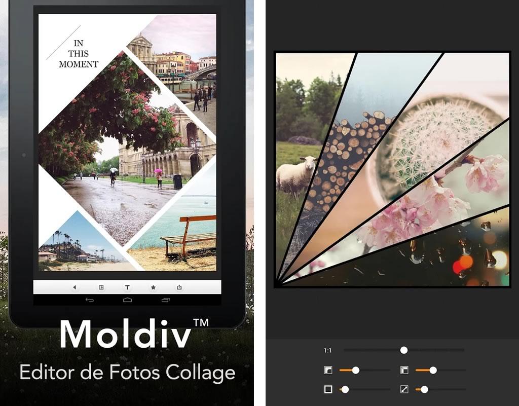 Moldiv: Excelente App Editor de Fotos Collage con Pegatinas y Más