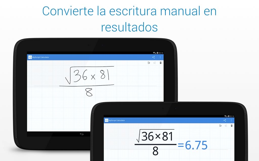 app calculadora grafica para android gratis myscript calculator