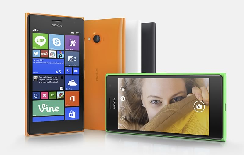 mejores celulares 2015 para hacer selfies - nokia lumia 735