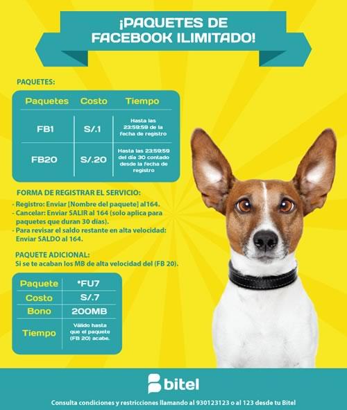 paquetes facebook ilimitado bitel peru