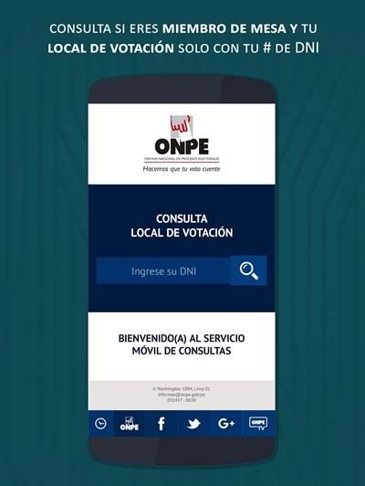 app onpe consulta local de votacion